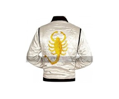 Ryan Gosling Drive Scorpion White Jacket