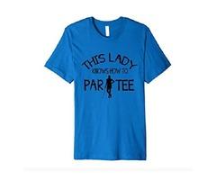 Golfer Mom Summer Vacation Golfing Lady Golf Clubs Ball Tee Premium T-Shirt