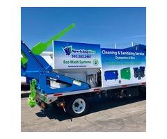 Trash bin cleaning service