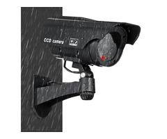 Solar Power Fake Camera CCTV Realistic Flashing IR Dummy Security Camera Blinking
