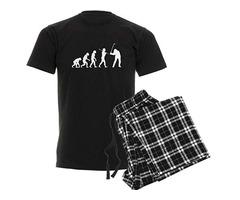 CafePress Evolved to Golf Unisex Novelty Cotton Pajama Set, Comfortable PJ Sleepwear