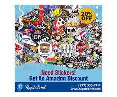 Need Stickers! Get 20% Discount - RegaloPrint