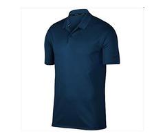 Nike Men's Dry Victory Solid Polo Golf Shirt, College Navy/Black, Medium