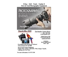2nd Sunday Camera Show March 8th (Buy Sell-Trade) Redford Jaycees Hall