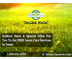 GoMow Have A Special Offer For You To Get FREE Lawn Care Services In Tx.