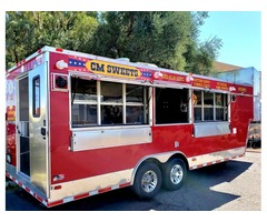 FSBO Fire Engine Red Food & Concession Trailer Cotton Candy Ice Cream+