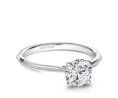 Noam Carver White Gold Engagement Ring With Round Centerpiece