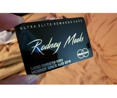 Introducing the world's 1st Upscale Ultra Elite Prepaid Metal Debit Card with REWARDS!