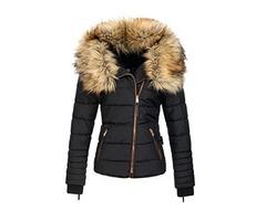 Tidebuy Short Faux Fur Womens Zipper Overcoat