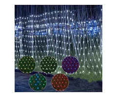 3x3m Waterproof LED Curtain Fairy String Light Wedding Party Outdoor Decoration EU Plug AC220V