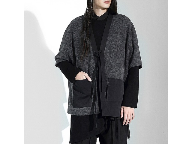 Men's Vintage Irregularity Design Loose Big Pockets Sweaters   free-classifieds-usa.com