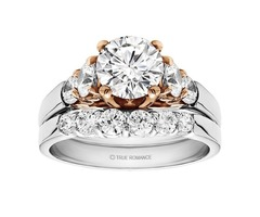Round Cut Center Diamond Classic Engagement Ring - RM1529RTT
