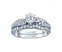 14k White Gold Infinity Engagement Ring - SKU: RM1145-D