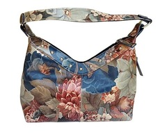 Argentinian Floral Leather Bag - Over Sized Studded Hobo Bag For $185