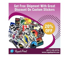Get Free Shipment With 20% Discount On Custom Stickers - RegaloPrint