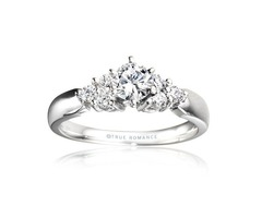14k White Gold Engagement Ring From Nostalgic Collection - Me278