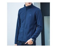 Mens Polar Fleece Fall Winter Zipper Casual Jacket