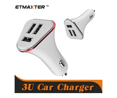 ETMAXTER Universal Car Charger Dual Triple Ports Travel Power Adapter for iPhone X 8 Plus HTC Samsun