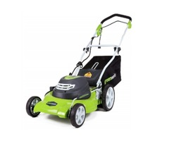 Green Works 19-Inch 40V Cordless Lawn Mower + Extra Blade