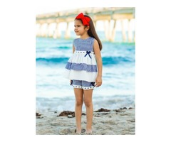Buy Girls Ruffled Tunic and Shorts Set Online at Low Prices
