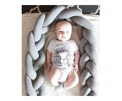 Ditch the regular baby pillows with a long knotted pillow/crib bumper | free-classifieds-usa.com