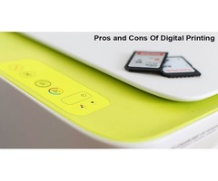 Digital Printing Advantages and Disadvantages