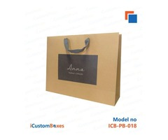 Paper bags with handles wholesale at iCustomBoxes