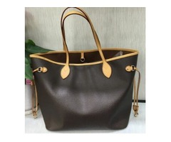 AAA+Original 2018 free ship NEVER FULL cowhide leather handbags color leather shopping bag Never sin