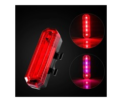 XANES TL17 Bicycle Taillight Warning Rear Light USB Rechargeable Waterproof Cycling Tail Light