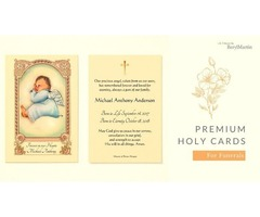 Premium Holy Cards For Funerals