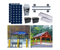 Bus shelter lighting systems