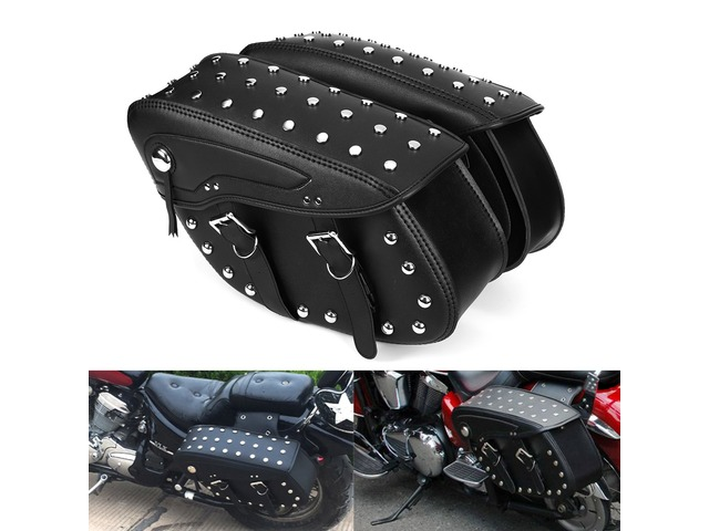 Motorcycle PU Leather Saddlebags Side Bag For Harley Sportster 1200XL 883 | free-classifieds-usa.com