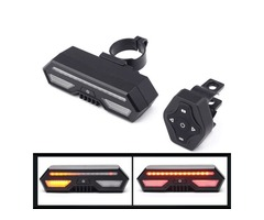 XANES STL14 Bicycle Taillight Turn Signal Warning USB Rechargeable Waterproof Tail Light Cycling Rea