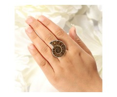 Buy Ammonite Stone Jewelry Online At Wholesale Price | Sanchi and Filia P Designs