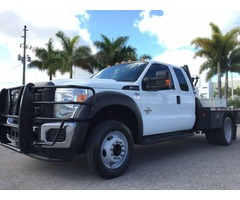 2013 Ford F-550 4X4 DRW SUPERCAB FLATBED 6.7 LITER TURBO DIESEL