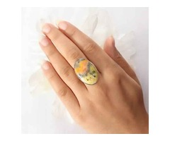 Buy Bumble Bee Jasper Stone Online At Wholesale Price | Sanchi and Filia P Designs