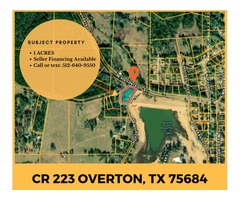 1 Acre Lot in Overton, Seller Financing Avbl, $2,100 DISCOUNT!!