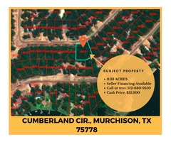 0.33 Acre Property Off N Lake Dr in Murchison, Mobile Homes Allowed