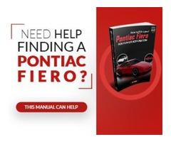 Need Help Finding a Pontiac Fiero?