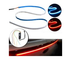 120cm 10W LED Flow Type Car Tailgate Trunk Lights Strip Bar Running Brake Reverse Turn Signal Flash