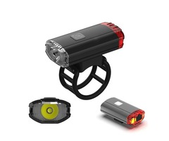 XANES XL23 650LM Helemt Bike Bicycle Headlight Tail Light 2 In 1 USB Rechargeable Waterproof Cycling