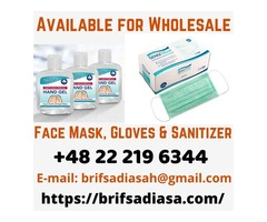 Healthcare Face Mask, Gloves & Sanitizer