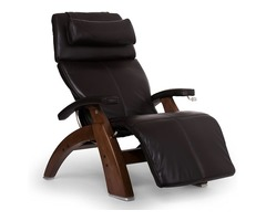 """Human Touch Perfect Chair """"PC-420"""" Crafted Zero-Gravity Walnut Manual Recliner"""