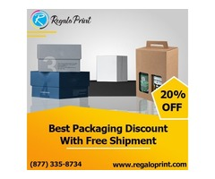 Best Packaging Discount of 20% With Free Shipment - RegaloPrint