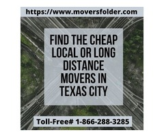 Find Cheap Local or Long Distance Movers in Texas City