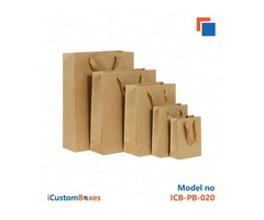 Buy Paper bags with handles at iCustomBoxes with discount
