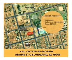 0.16 Acre Lot in Central Midland, Near Downtown, Numerous Restaurants, Shops, Etc.