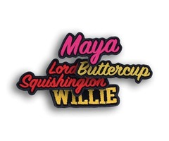 Buy Name Patches| Custom Name Patches| Embroidered Name Patches - Austin trim