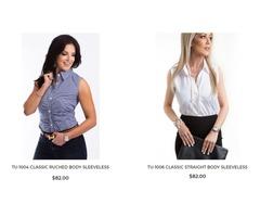 Buy sleeveless blouses online | TukkedShirts
