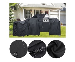 BBQ Grill Cover Outdoor Furniture Dust Proof Cover Waterproof Barbeque Grill Protector